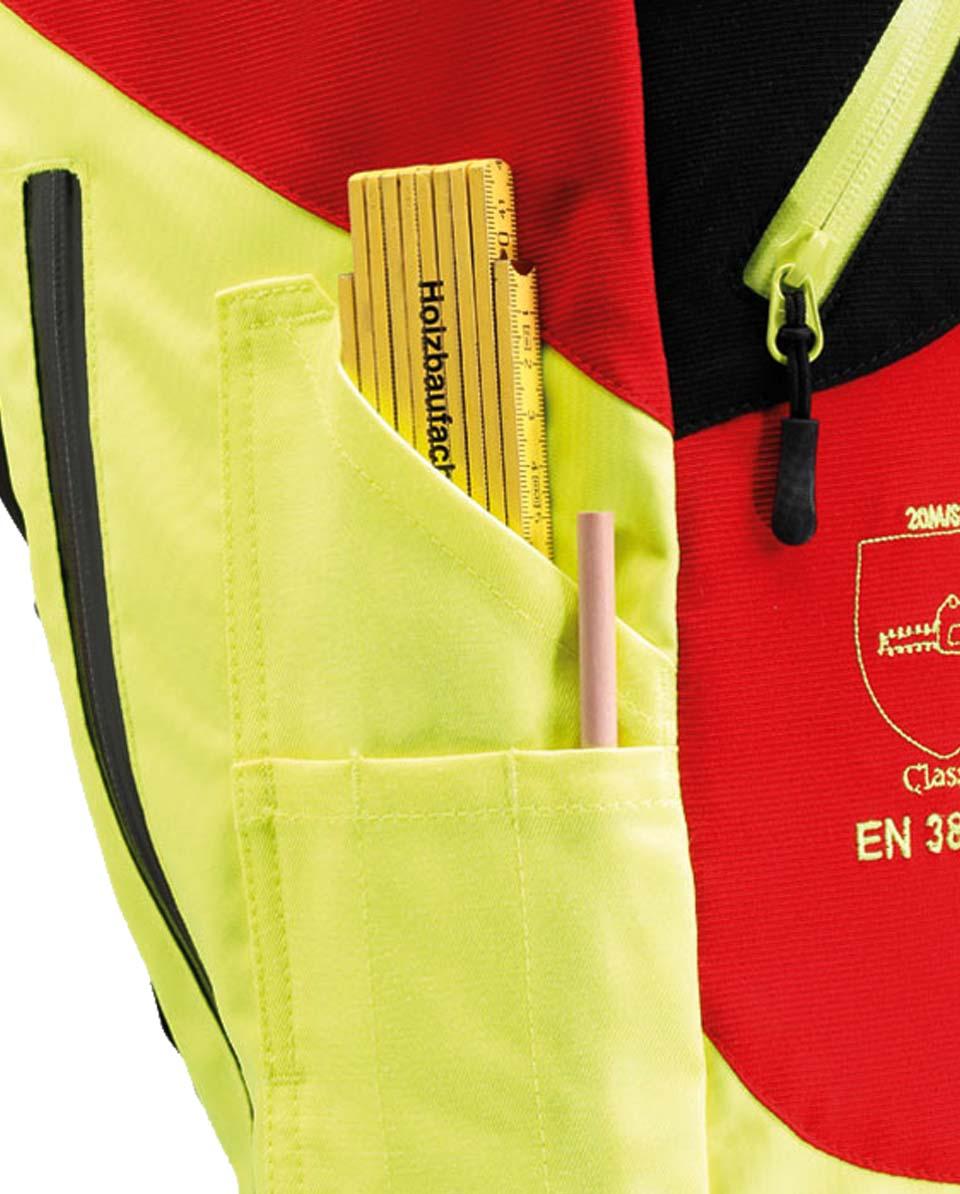 X-treme Air Schnittschutzhose rot/gelb Bild 5