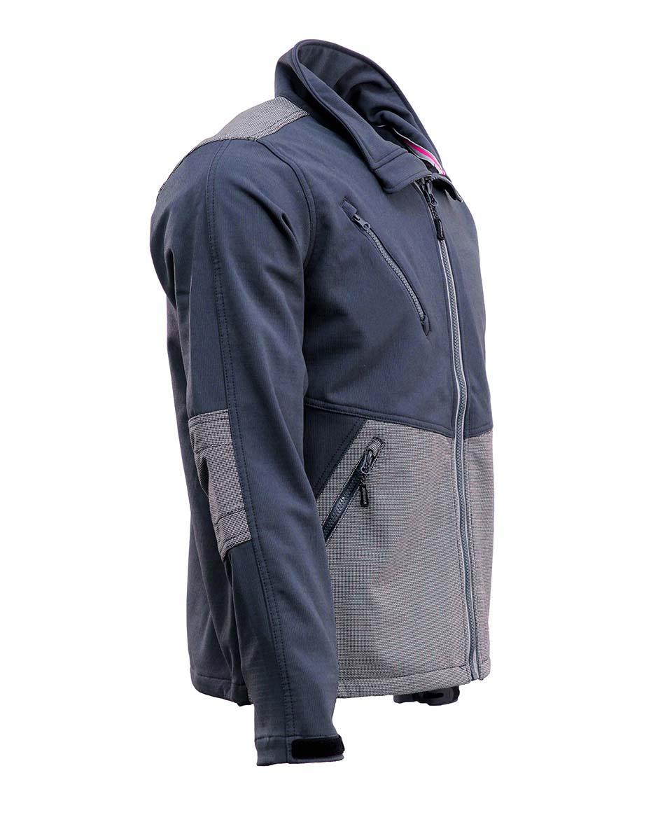 JOBMAN Profi-Softshell-Jacke 1248 Grau Bild 2