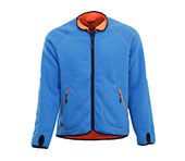 JOBMAN Wende-Fleecejacke 5192 Orange/Blau
