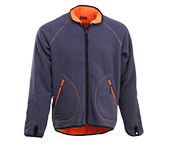 JOBMAN Wende-Fleecejacke 5192 Orange/Grau